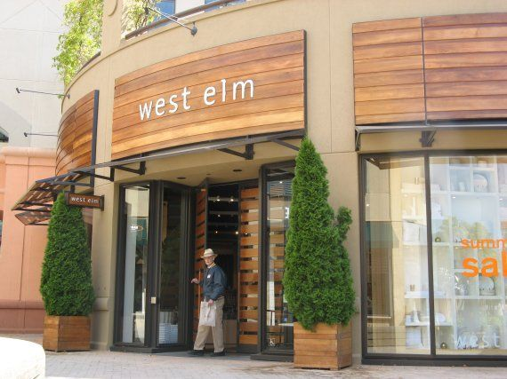 Contemporary storefront design the west elm store in for Retail store exterior design