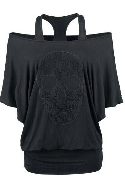 Sugar skull Clothing, Shoes & Jewelry - Women - Plus-Size - Wantdo - women big size clothes - http://amzn.to/2lfaYAF