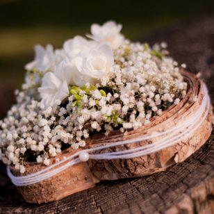 Mariage nature - Le Gypsophile... Freesia, coeur en bouleau