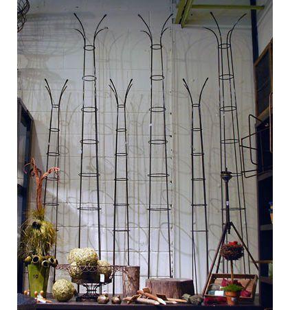 Tall metal sculptures