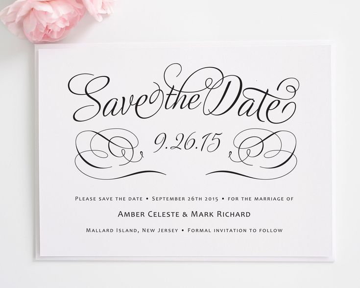 8 best design inspiration invitations images on pinterest bridal charming script save the date cards stopboris Images