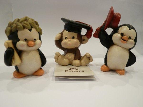 #bomboniere #laurea #Egan #pinguino #scimmia