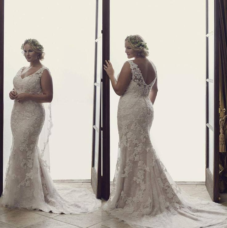 plus size amazing wedding dress