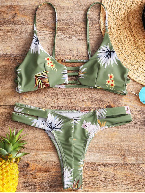 Up to 80% OFF! Floral Ladder Cut Out Thong Bikini. #Zaful #Swimwear #Bikinis zaful,zaful outfits,zaful dresses,spring outfits,summer dresses,Valentine's Day,valentines day ideas,cute,casual,fashion,style,bathing suit,swimsuits,one pieces,swimwear,bikini set,bikini,one piece swimwear,beach outfit,swimwear cover ups,high waisted swimsuit,tankini,high cut one piece swimsuit,high waisted swimsuit,swimwear modest,swimsuit modest,cover ups,swimsuit cover up @zaful Extra 10% OFF Code:ZF2017