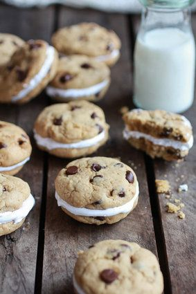 Chocolate Chip Banana Fluffernutter Sandwich Cookies - In Defense Of The Classic Chocolate Chip Cookie