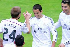 Chicharito celebrating his first goal with Real Madrid  | 20.09.2014