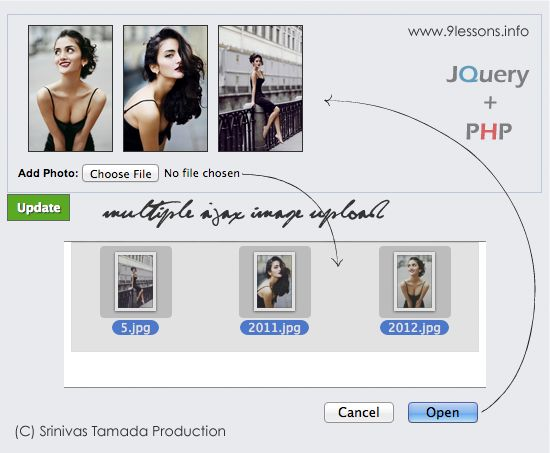 Ajax Select and Upload Multiple Images with Jquery