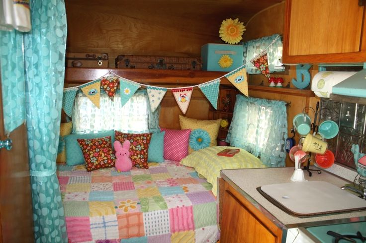 1966 frolic trailer my hideout pinterest vintage Travel trailer decorating ideas