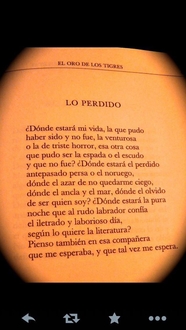 Lo perdido, Borges