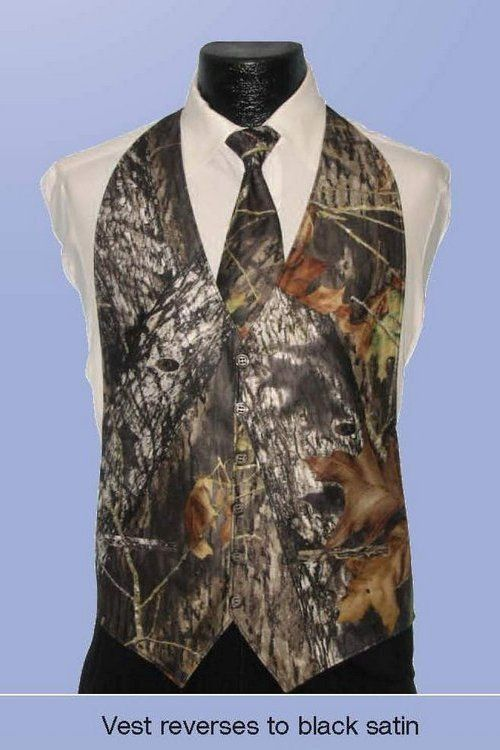 Mossy oak camo formalwear vest -- I did not just see this!! Although, it is a bit classier than some of the things I've seen on that redneck wedding show!! Keywords: #redneckweddings #jevel #jevelweddingplanning Follow Us: www.jevelweddingplanning.com www.pinterest.com/jevelwedding/ www.facebook.com/jevelweddingplanning/