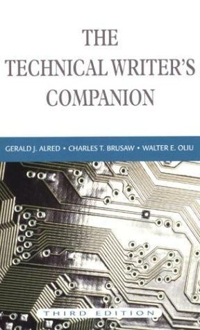 The Technical Writer's Companion, 3rd Edition