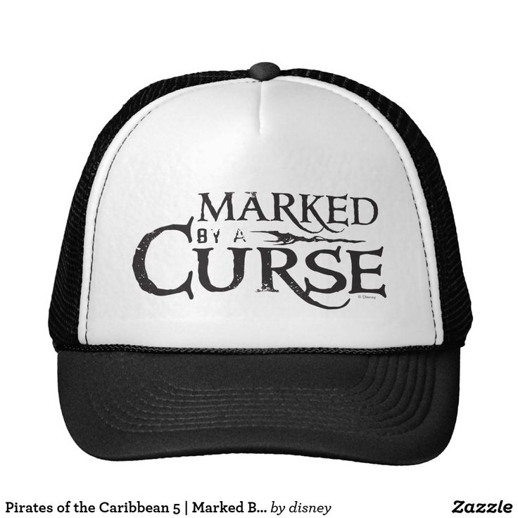 Pirates of the Caribbean 5   Marked By A Curse. Customizable product available in Zazzle store. Producto personalizable disponible en tienda Zazzle. #gorra #hat