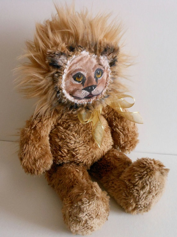 Dress up america plush lion art