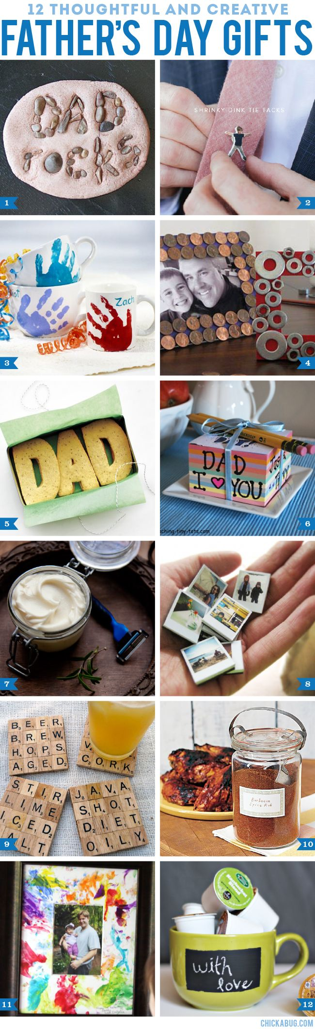 12 thoughtful and creative DIY Father's Day gifts #fathersday...