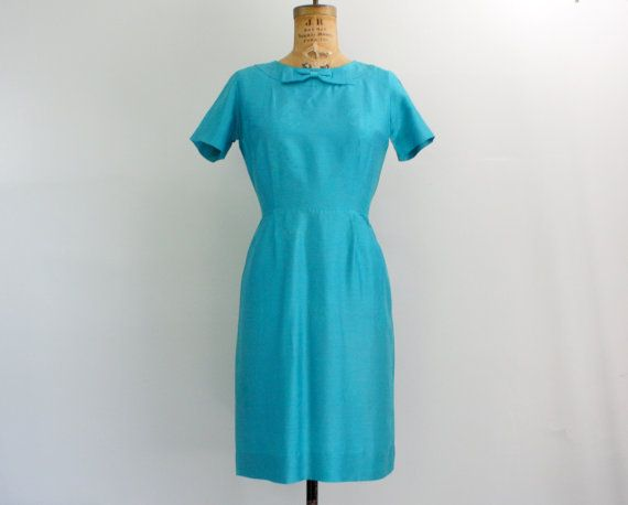 60s wiggle dress / 1960s cocktail dress / by VintConditionStyle