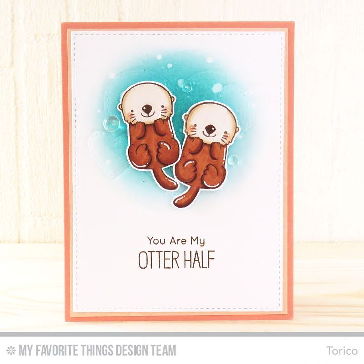 Otterly Love You Stamp Set and Die-namics, Mirror Image Stamp Set, Stitched Heart STAX Die-namics, Blueprints 24 Die-namics - Torico  #mftstamps