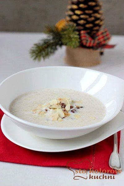 wigilijna zupa migdałowa