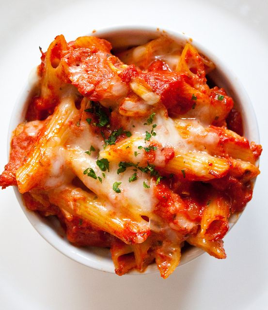 Three Cheese Baked Ziti.  Only 400 calories - add a nice salad and you have a well balanced meal!