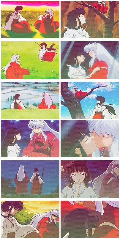 InuYasha and Kikyo...I used to hate her so bad! And I still can't understand why she came back to life, but after getting to know her better and relived his story I felt pity when she died.