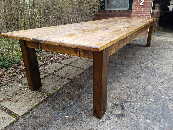 Rustic Farm Table 12 Foot Reclaimed Wood Farm House Primitive Etsy In 2020 Rustic Farm Table Farm Table Rustic Farmhouse Table