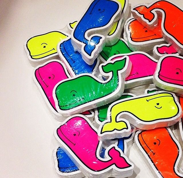 pulitzerprepster:  Happy Friday y'all! Get your spring neon whale stickers now!!