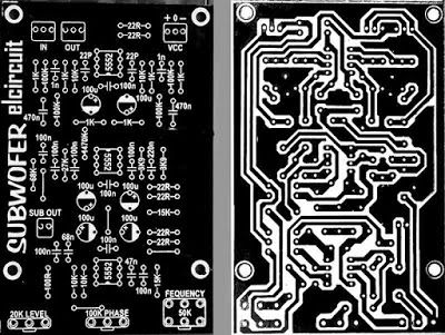 PCB Layout Subwoofer Filter NE5332