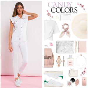 Candy Colors! #met #metjeans #metloves #polyvore #look