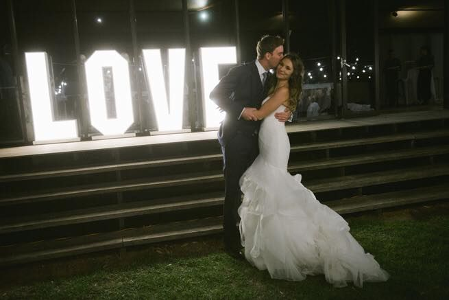 Werribee Mansion Wedding Light up letters by Cherry Soda Events