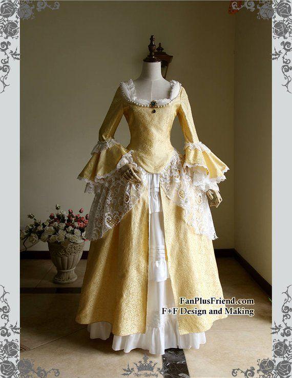 b44d05308fdf Victorian Dresses 18th Century Masquerade Fancy Dress Handmade Women Costume