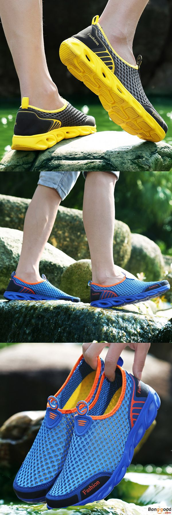 US$24.99 + Free shipping. Men Sport Shoes, Hiking Shoes, Water Shoes, Hollow Out Shoes, Casual Mesh Shoes, Antiskid Shoes. Upper Material: Mesh. Color: Grey, Blue. Feel Free Hiking in the Woods.