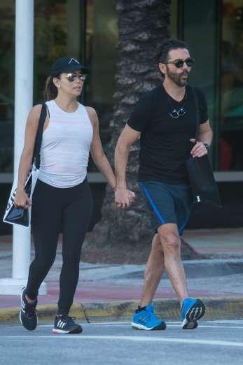 Celebrity PDA of 2017 - December 11, 2017:  Eva Longoria and husband José Bastón were seen walking hand-in-hand in Miami on Jan. 18.