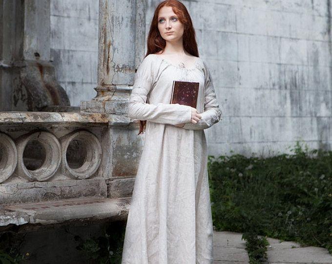 Chemise lin «Sansa»; Taille fixe; Prêt à être expédier; Robe médiévale Renaissance; Prix réduit