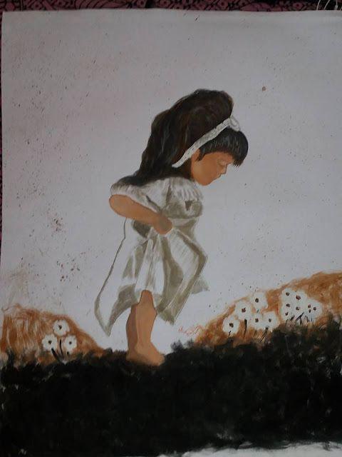 mema: 5th painting...little cute girl