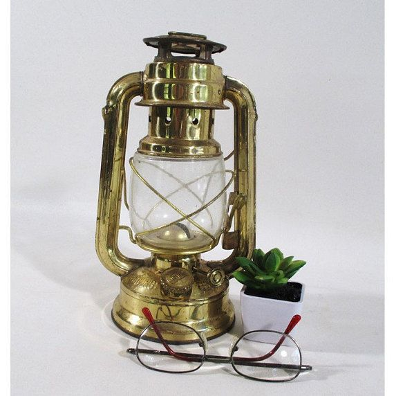 Brass Dietz Style Lantern Vintage Moon Light Railroad Oil Lamp Rustic Hanging Hurricane Barn Country Ranch Farm Cottage Out Oil Lamps Rustic Lamps Novelty Lamp