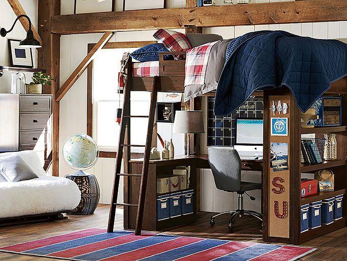 Sleep & Study Finley Bedroom // awesome guys room!