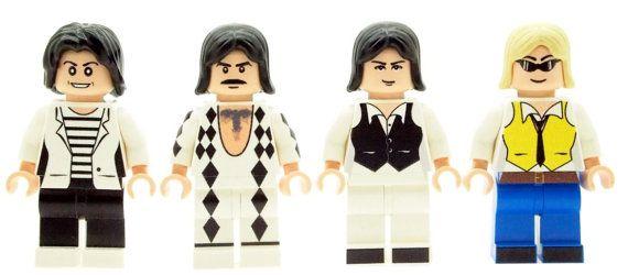 British Rock Band Members Queen  Custom LEGO Minifigure