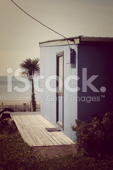 Kiwi Bach by the Beach (Retro Style Filter) royalty-free stock photo