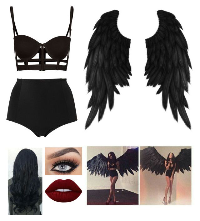 """Me if I was a Victoria Secret Model"" by blessed-with-beauty-and-rage ❤ liked on Polyvore featuring Monki and Lime Crime"