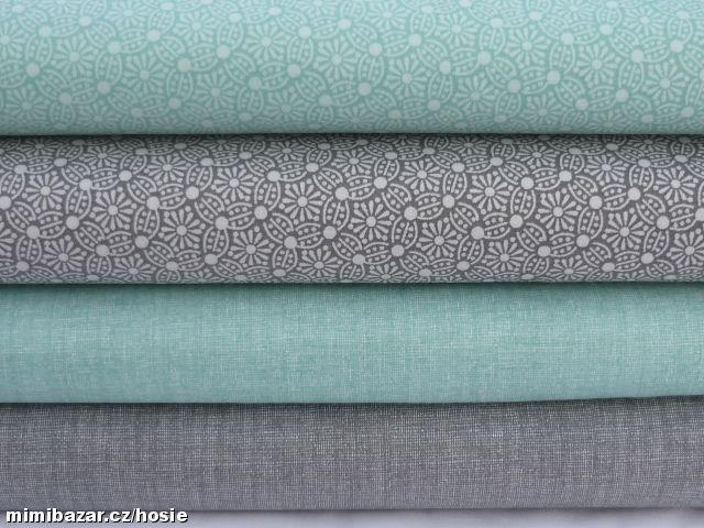 Plátno mandaly jednobarevné s režným efektem