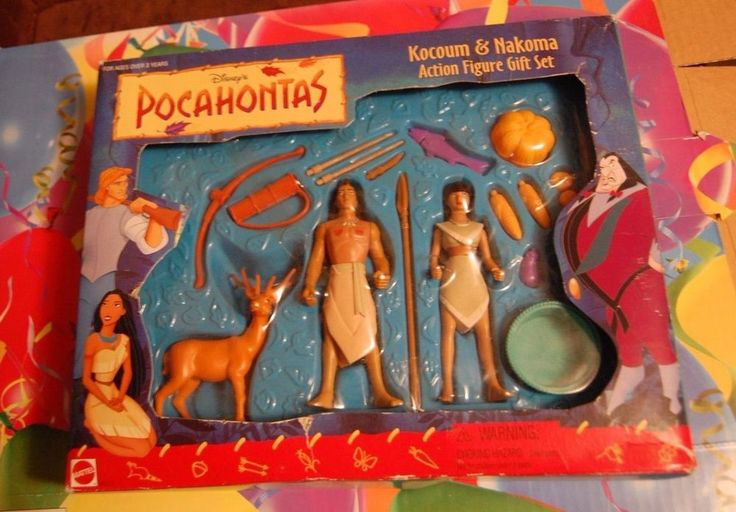Disney's Pocahontas Kocoum & Nakoma Action Figure Gift Set NIB Combined Shipping #Mattel