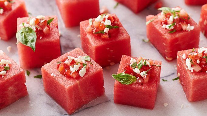 These fresh, fun watermelon cups will be a hit at your next cocktail party or summer soirée.