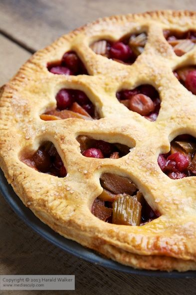 This rhubarb and red gooseberry pie will be a hit all summer long.