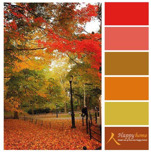 Natuurtinten, mooie warme kleuren. Kleurinspiratie van de woonwinkel Happy Home - Heerlijk !!  www.happy-home.nl