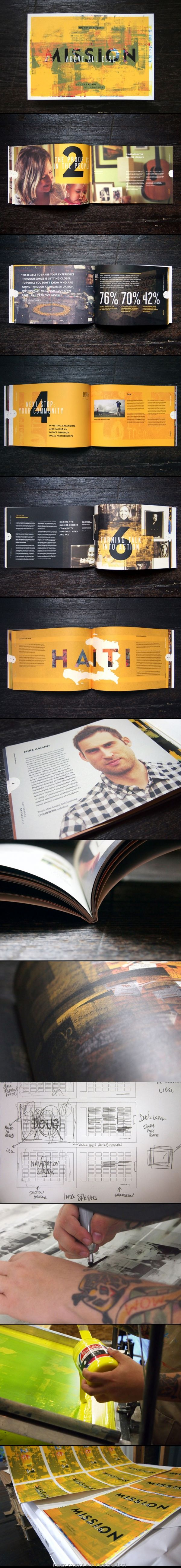Great Layouts for annual report 2012 - created via http://pinthemall.net