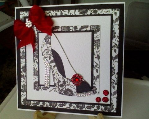 Card for Red, Black and White card swap. by: angela-O-C