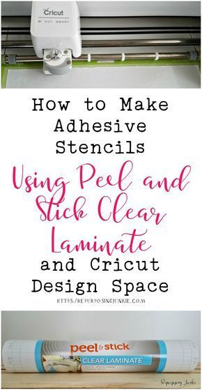 How to Make Adhesive Stencils Using Peel and Stick Clear Laminate and Cricut Design SpaceBoy Mom Creations