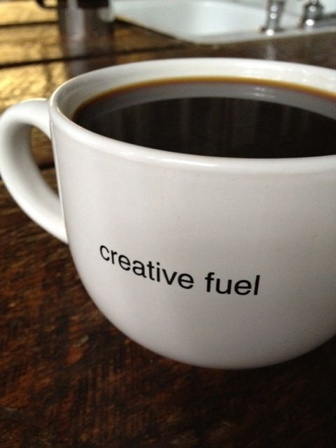 Isn't this the truth? I am much more creative after my first, second, third, ummmm never mind cup of coffee:):)