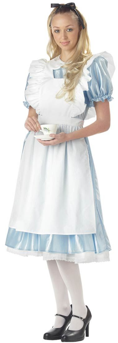 Adult Alice in Wonderland Satin Costume | Costume Craze