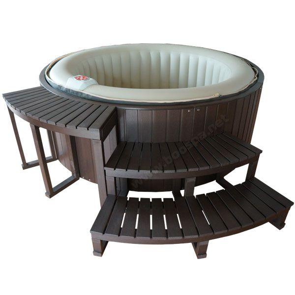 Habillage composite pour spa gonflable 4 places for Accessoires jardin