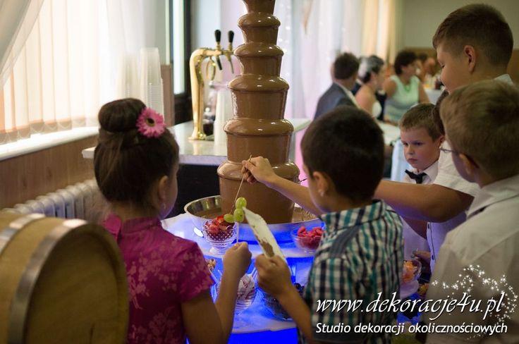 Najepiej smakuje dzieciom - czekolada - www.inspiracje-weselne.pl